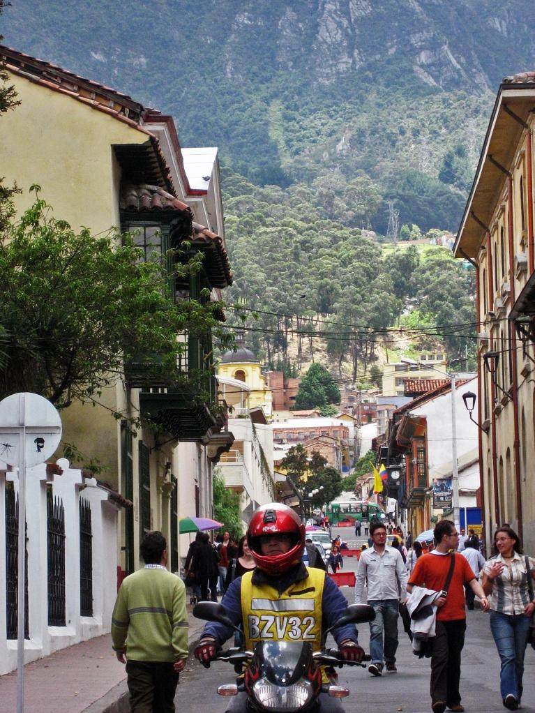 Bogota - Buzzy street in La Candelaria