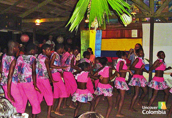 Chirimia dance,  typical music of Afrocolombian people in the Pacific Coast