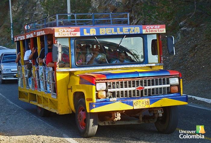 Local transport (Chiva) - Santa Marta, Colombia