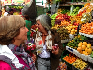 Shopping fresh vegetables and fruits at Plaza de Paloquemado