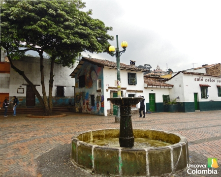 La Candelaria - Chorro de Quevedo, which may have been the point where Bogotá was founded in 1538.
