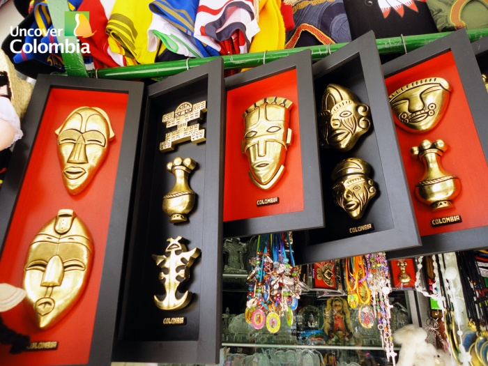 Some of the handcrafts found in the shops in Monserrate