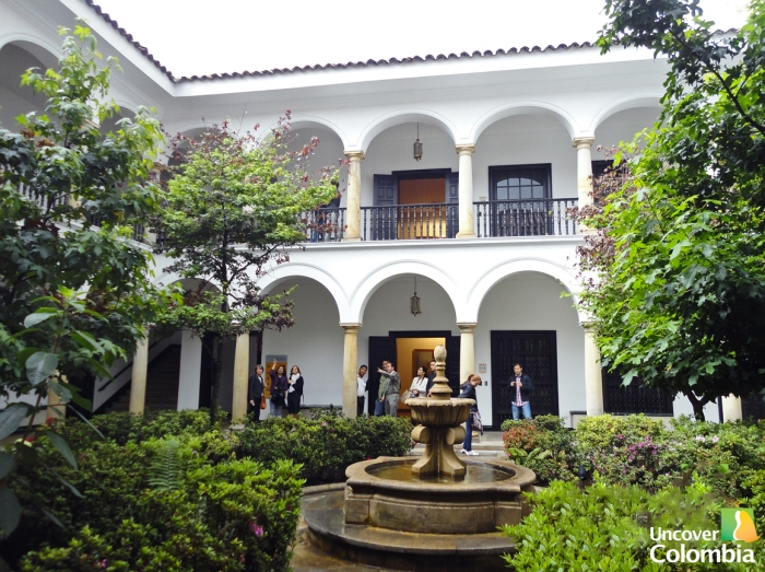The beautiful colonial house where the Museo Botero is held