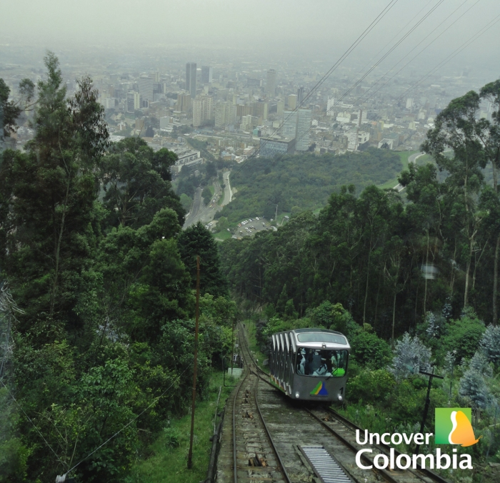 Way up to Monserrate in Bogota