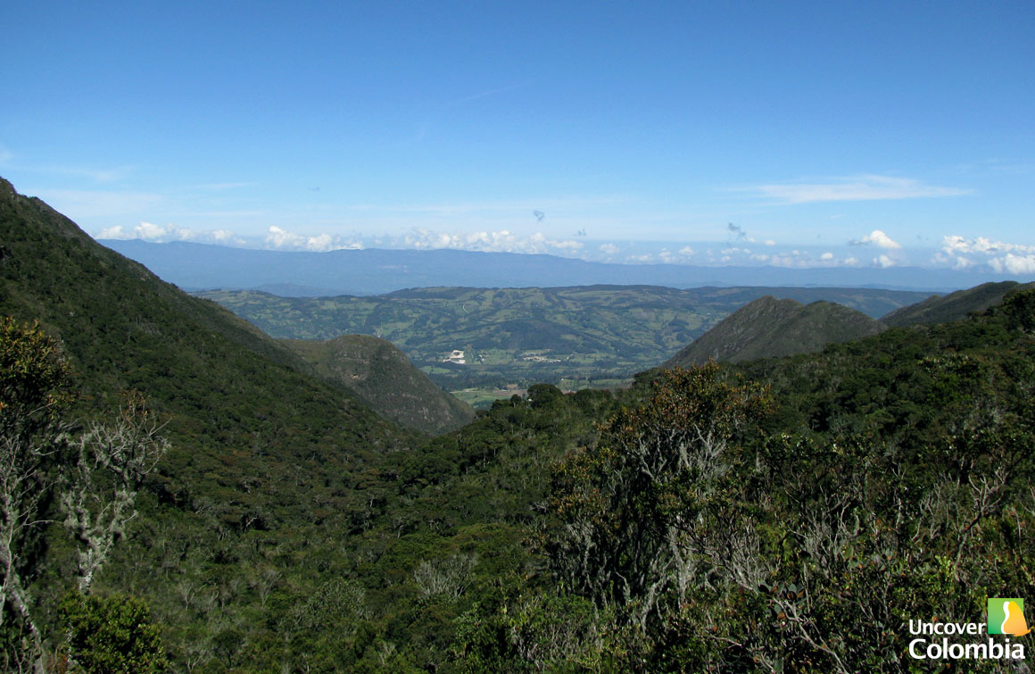 View from of the Andes Landscape from Iguaque
