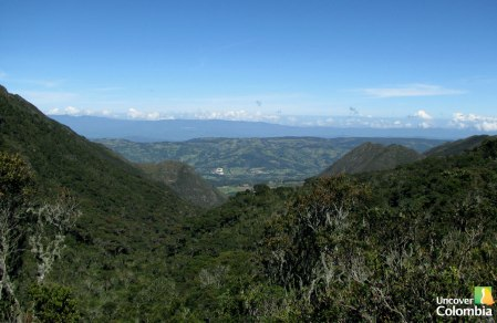 View of the Andes Landscape - Iguaque natural park