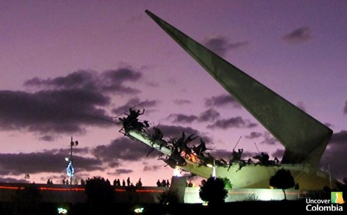 Rondon and his lancers - Pantano de Vargas memorial