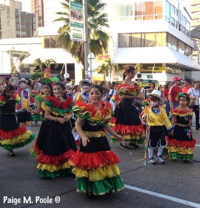The kid's Garabato parade