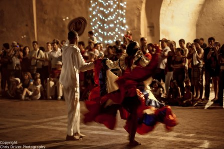 Traditional Colombian Dance in Cartagena - Copyright Chris Driver Photography