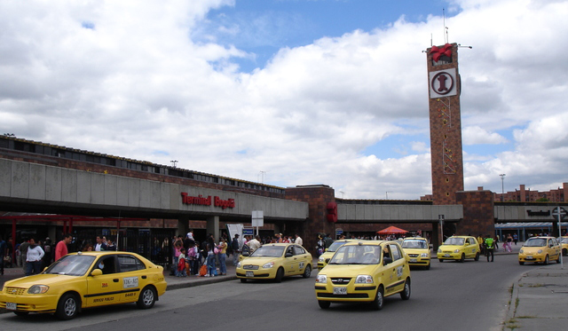 Central bus station in Bogota - Arrive early if you plan to travel