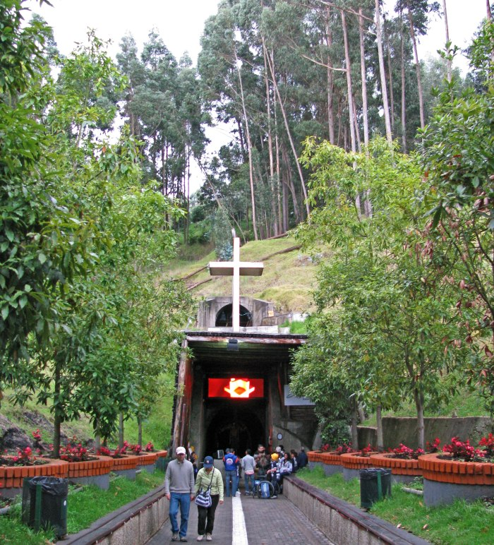 Entrance to the Salt Cathedral of Zipaquira