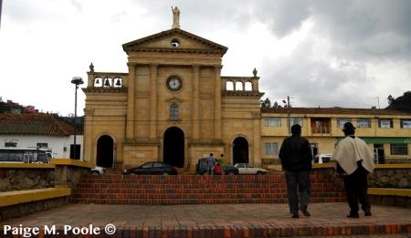 Town plaza in Samaca, Boyaca