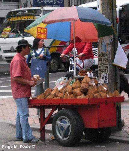 Street vendor in Bogota