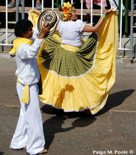 A young couple dancing joropo in Villavicencio—Los Llanos
