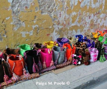 Handmade mochilas in Cartagena
