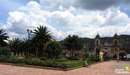 Tibasosa main square and church - Uncover Colombia