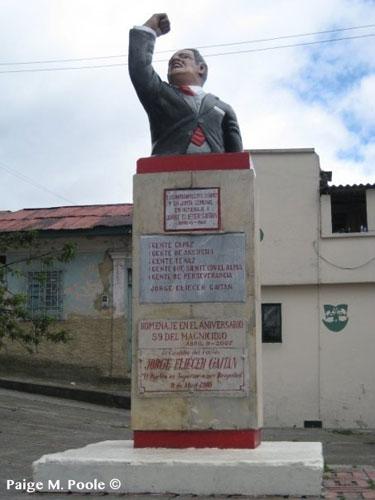Monument to Gaitan in Bogota
