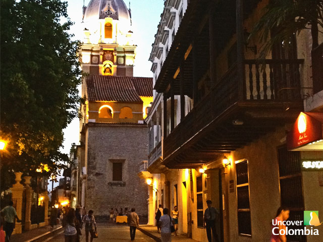 View of San Catalina Cathedral in Cartagena
