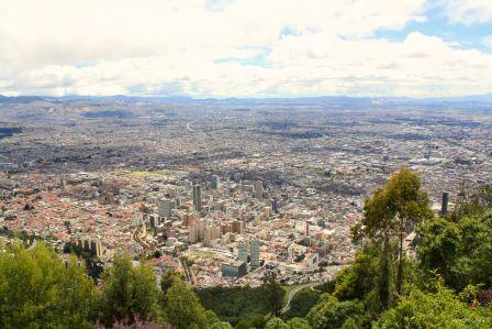 View of Bogotá from Monserrate, Bogotá, Cundinamarca, Colombia