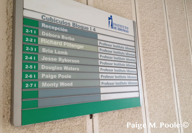 List of teachers at the Instituto de Idiomas