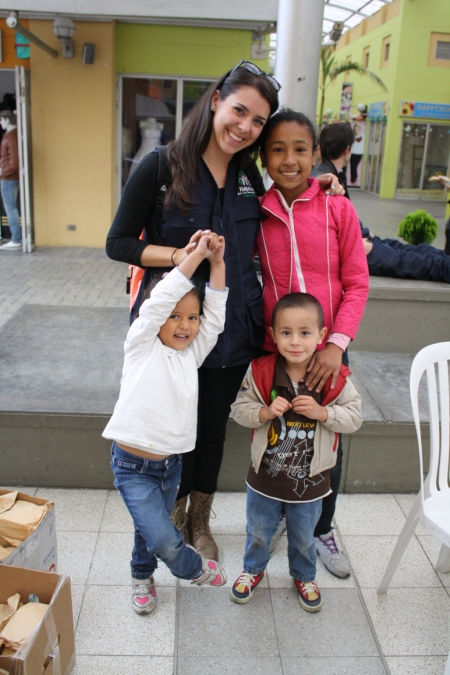 Playing with Children at an HPHC Community Event in Suba, Cundinamarca, Colombia