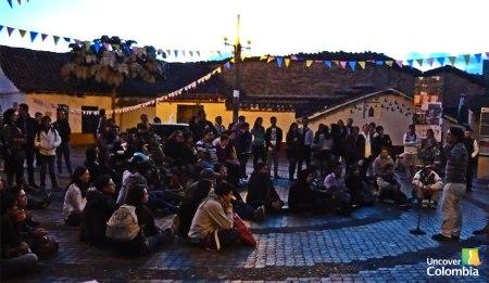 Storytellers in the Chorro de Quevedo, in La Candelaria.