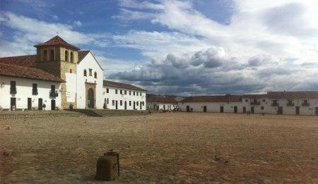 The impressive plaza major in Villa de Leyva