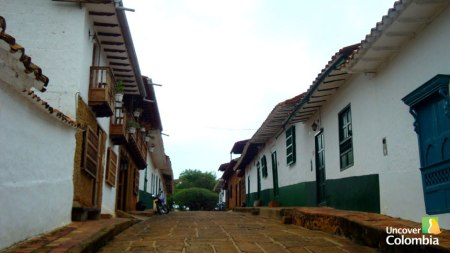 One of the colonial streets in Barichara