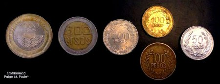 Colombian peso coins