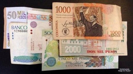 Colombian peso bills