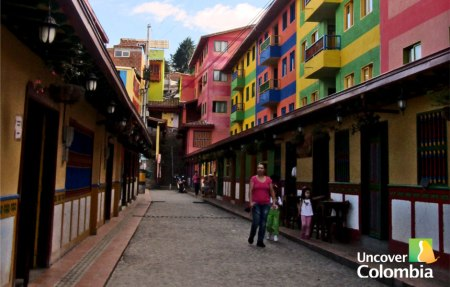 One of the colourful streets in Guatape