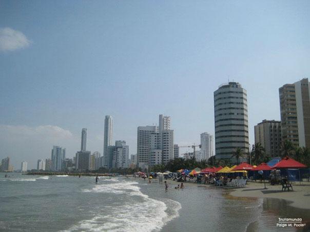 Sunny, hot day in Cartagena
