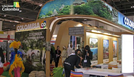 The Colombia stand at the Word Travel Market exhibition in London