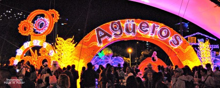 Agüeros light display in Medellín