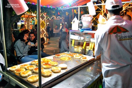 Arepas with cheese in Envigado, Antioquia