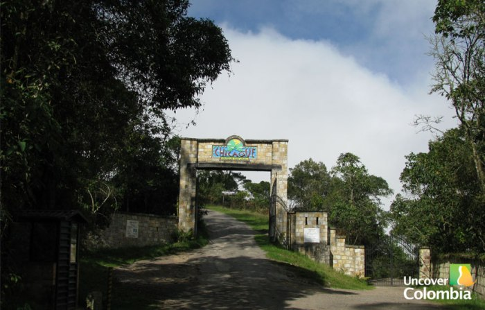 Chicaque Natural Park Entrance