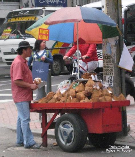 Coco frito in Bogotá