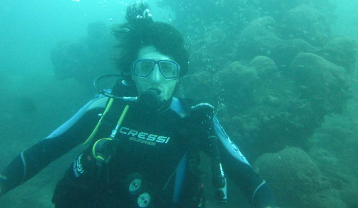 Andrew scuba diving