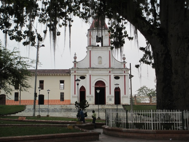 Center of  Saladoblanco with church at one end
