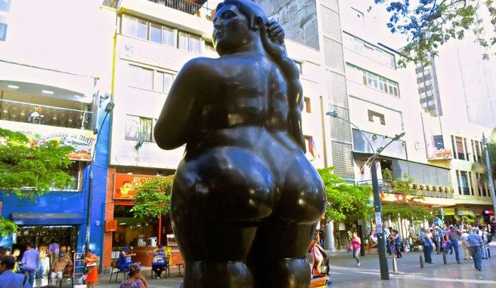 Botero lady - Plaza Botero in Medellin