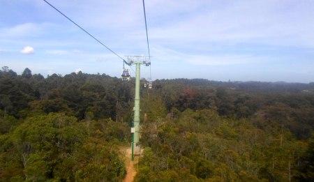 Metro-cable to Parque Arvi, Medellin