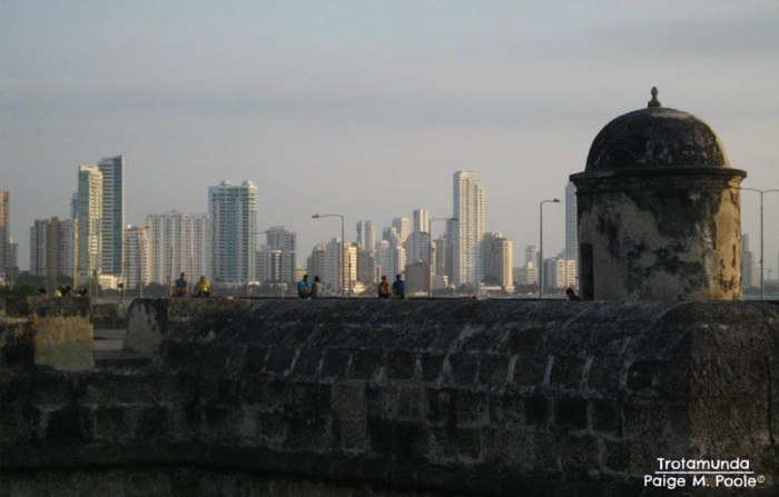 View of Bocagrande from the Walled City, Cartagena
