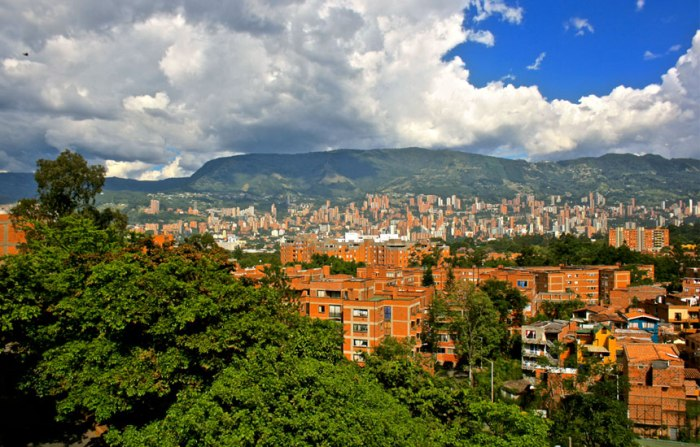Medellin from the west