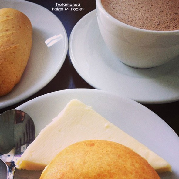 Colombian Food - Hot Chocolate and Cheese
