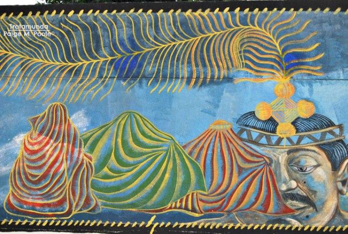 Wayuu inspired mural in Uribia