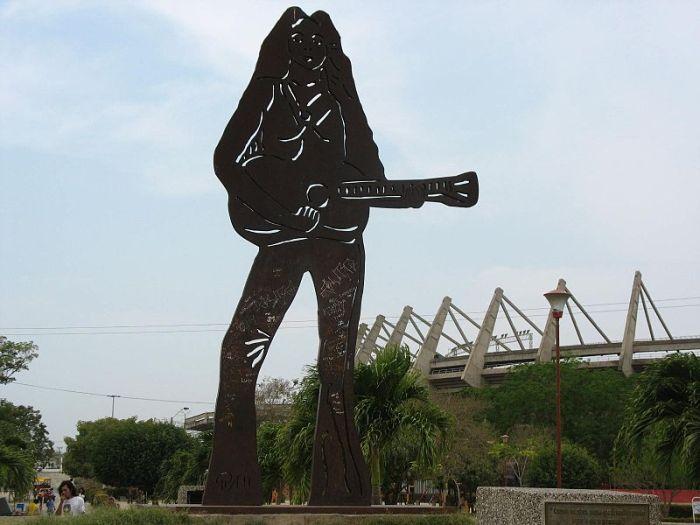 Shakira sculpture in Barranquilla, Colombia