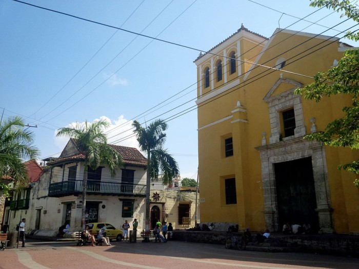 Trinidad Plaza in Getsemaní, Cartagena