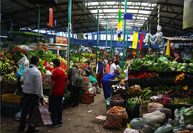 Inside Paloquemao marketplace