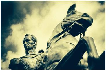Statue of Simón Bolivar and his horse Palomo