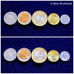 The new set of coins in circulation that won the 2013 Excellence in Currency award